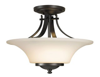 FEIS SF241ORB SEMI FLUSHMOUNT OIL RUBBED BRONZE BARRINGTON