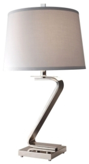 FEIS 10221PN 1 BULB POLISHED NICKEL TABLE LAMP