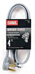 CARO 01004.63.01 4FT 4WIRE DRYER CORD
