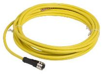 SQD XZCPV1865L5 CORDSET PVC FEMALE 1/2 3P STR 5M