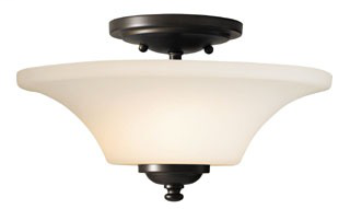 FEIS SF240ORB SEMI FLUSHMOUNT OIL RUBBED BRONZE BARRINGTON
