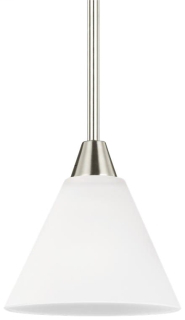 SEG 6111201-962 ASHBURNE 1 LIGHT MINI-PENDANT BRUSHED NICKEL W/ SATIN ETCHED GLASS