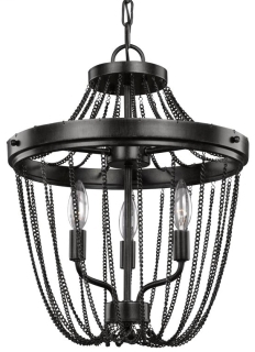 SEA 7710103-846 KELVYN PARK THREE LIGHT SEMI-FLUSH CONVERTIBLE PENDANT IN STARDUST