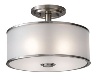 FEIS SF251BS SEMI FLUSH BRUSHED STEEL