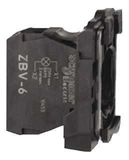 SQD ZB4BV6120 L/M W/MTG/ BASE PILOT LITE 120V W/ INCAND BA9 LMP