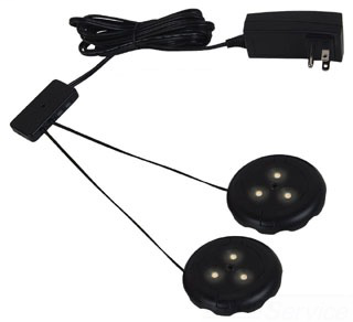 SEA 98852SW-12 TWO LED PUCK LIGHT KIT 2700K