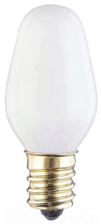 WES 0369200 7 WATT C7 INCANDESCENT LIGHT BULB