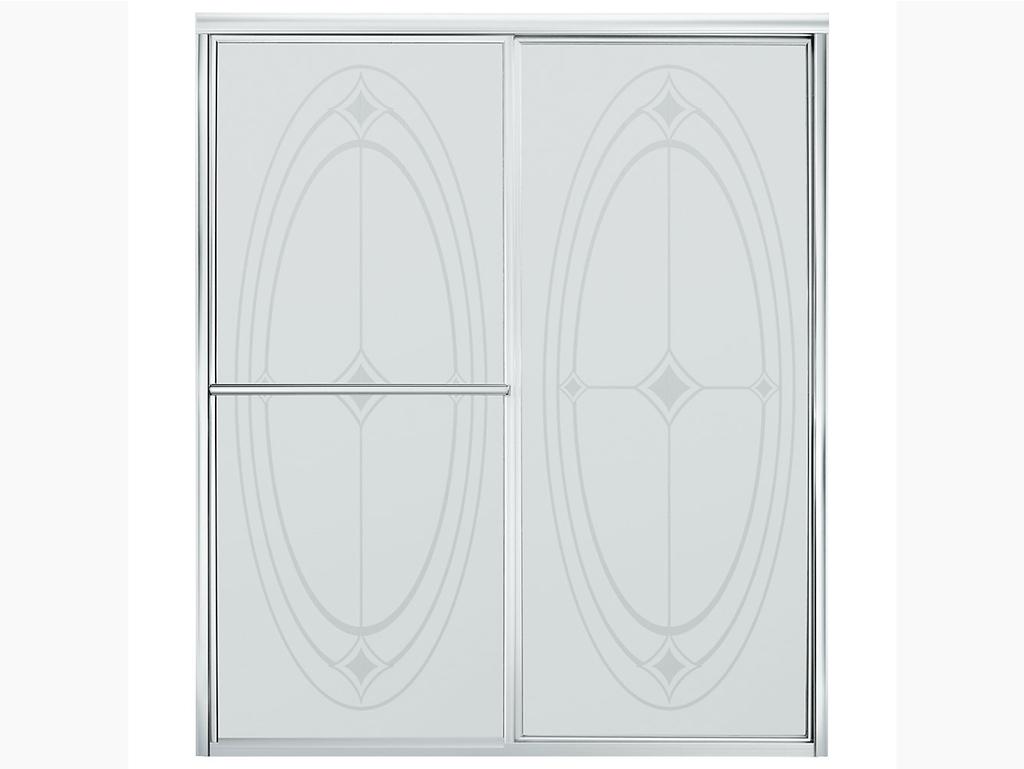 "DeluxeDeluxe Framed Sliding Shower Door 54-3/8""–59-3/8"" W x 70"" H"