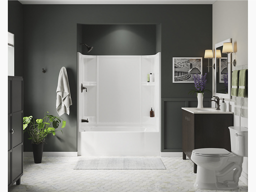 """Accord®Series 7124, 60"""" x 30"""" Bath/Shower With Above-Floor Drain"""