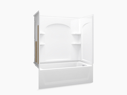 """Ensemble™Series 7122, 60"""" x 32"""" Bath/Shower With Aging in Place Backerboards"""