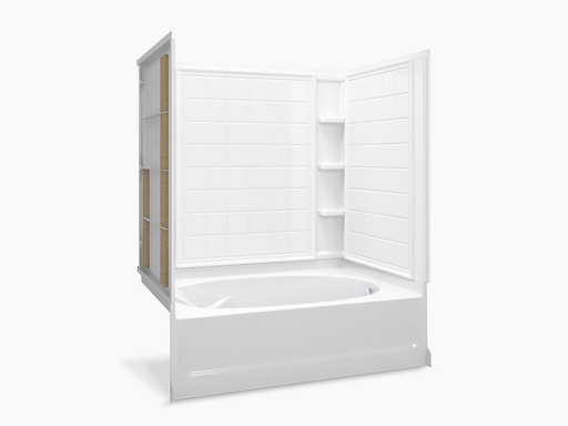 """Ensemble™Series 7111, 60"""" x 42"""" Bath/Shower With Aging in Place Backerboards"""