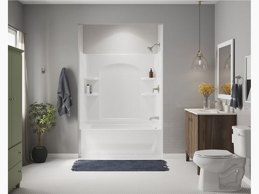 """Ensemble™Series 7122, 60"""" x 32"""" Bath/Shower With Above-Floor Drain"""