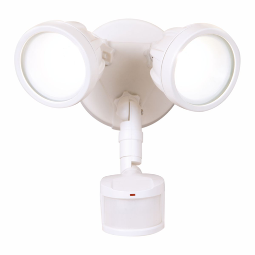 Mayer-LED Twin Head Motion Sensor Floodlight, 1600 Lumens, 5000K CCT, White-1
