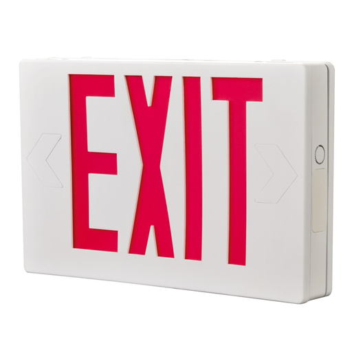 Mayer-Self Powered, White Housing, LED Exit, Green Letters-1