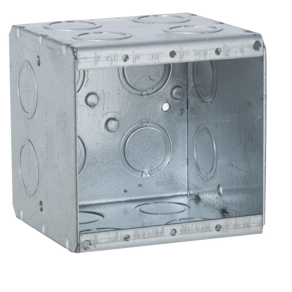 Raco 696 3-3/4 x 3-1/2 x 3-3/4 Inch 44 In Steel 2-Gang Masonry Box