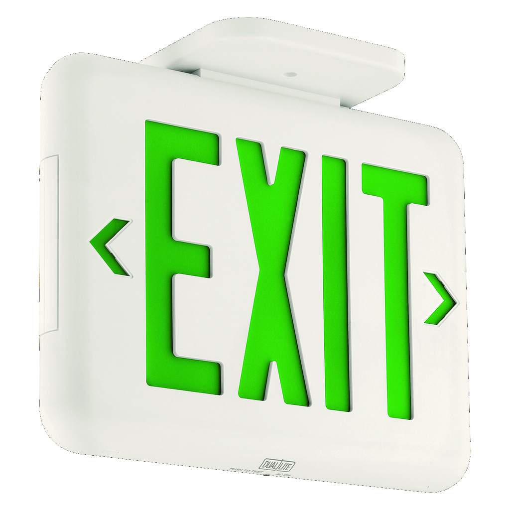 DUAL EVEUGWEI GRN LED EXIT SIGN
