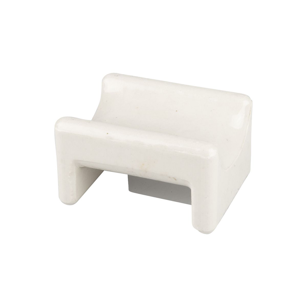 Chance 1118 3 x 3-3/4 Inch White Glazed Cable Rack Insulator