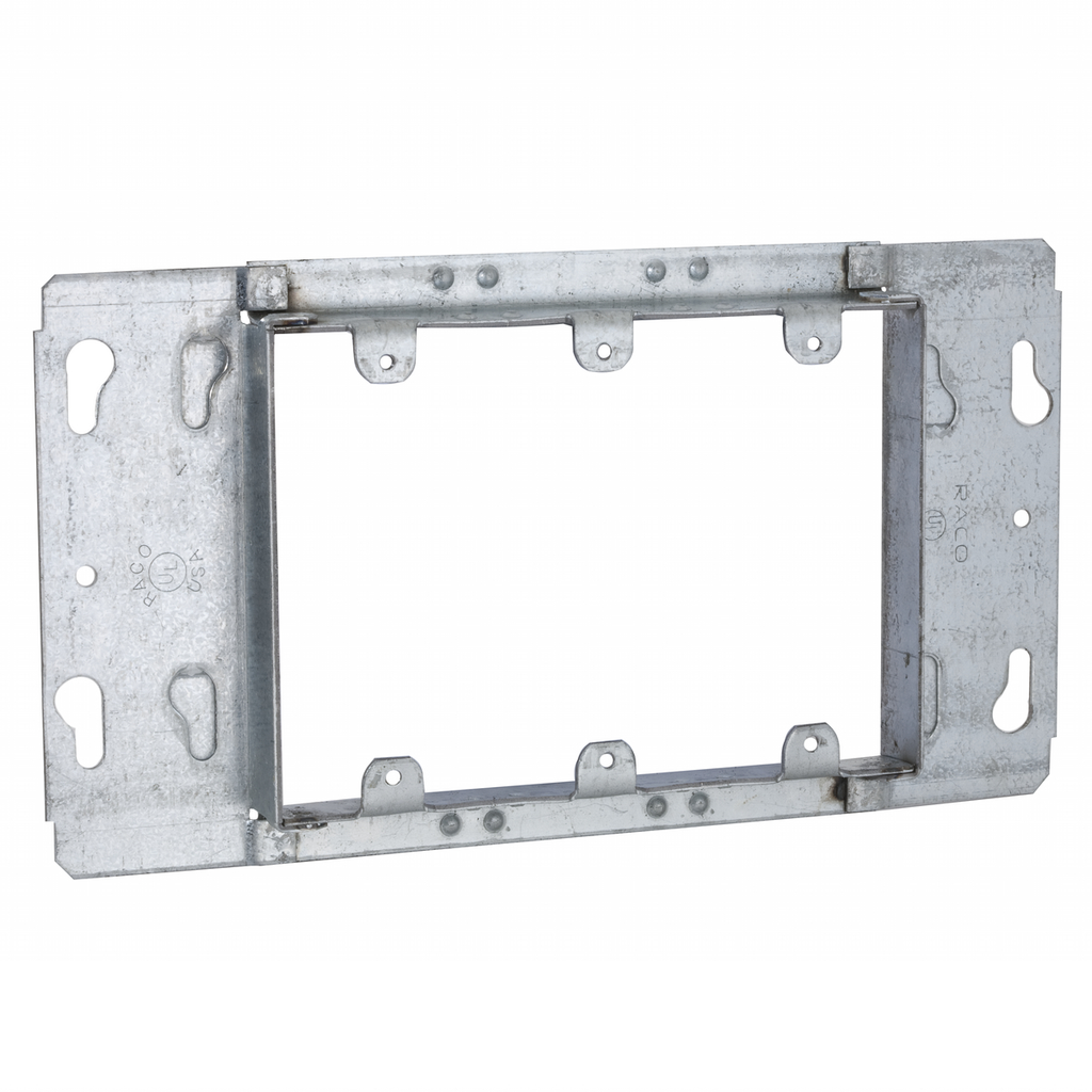 Raco 822 8-13/16 Inch 13/16 Inch Raised 13.5 In Steel 3-Gang Box Cover