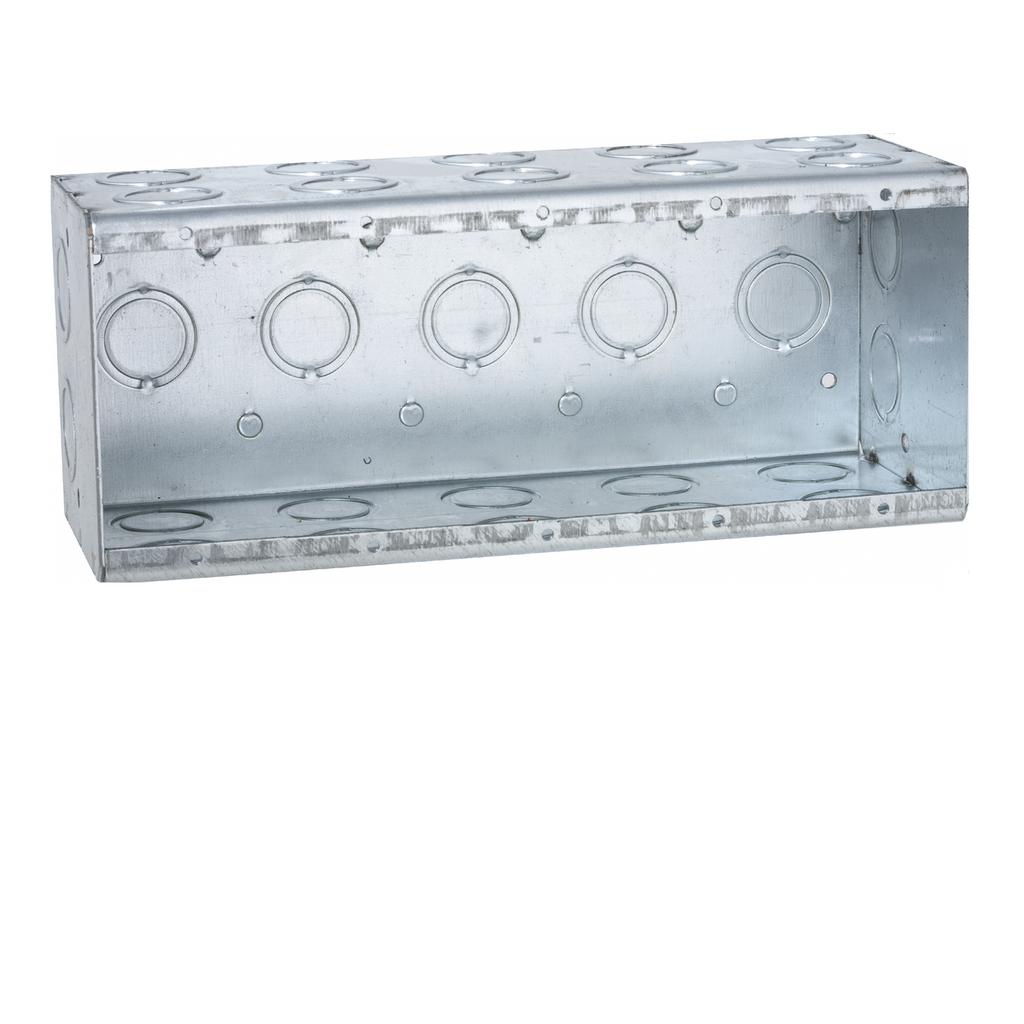 Raco 699 9-3/16 x 3-1/2 x 3-3/4 Inch 110 In Steel 5-Gang Masonry Box