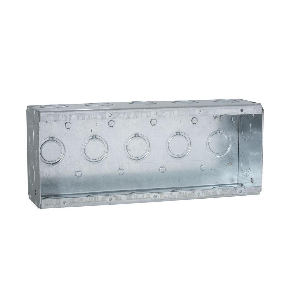 RACO 694 9-7/32 x 3-3/4 x 2-1/2 Inch 79.5 In Pre-Galvanized Steel 5-Gang Masonry Box