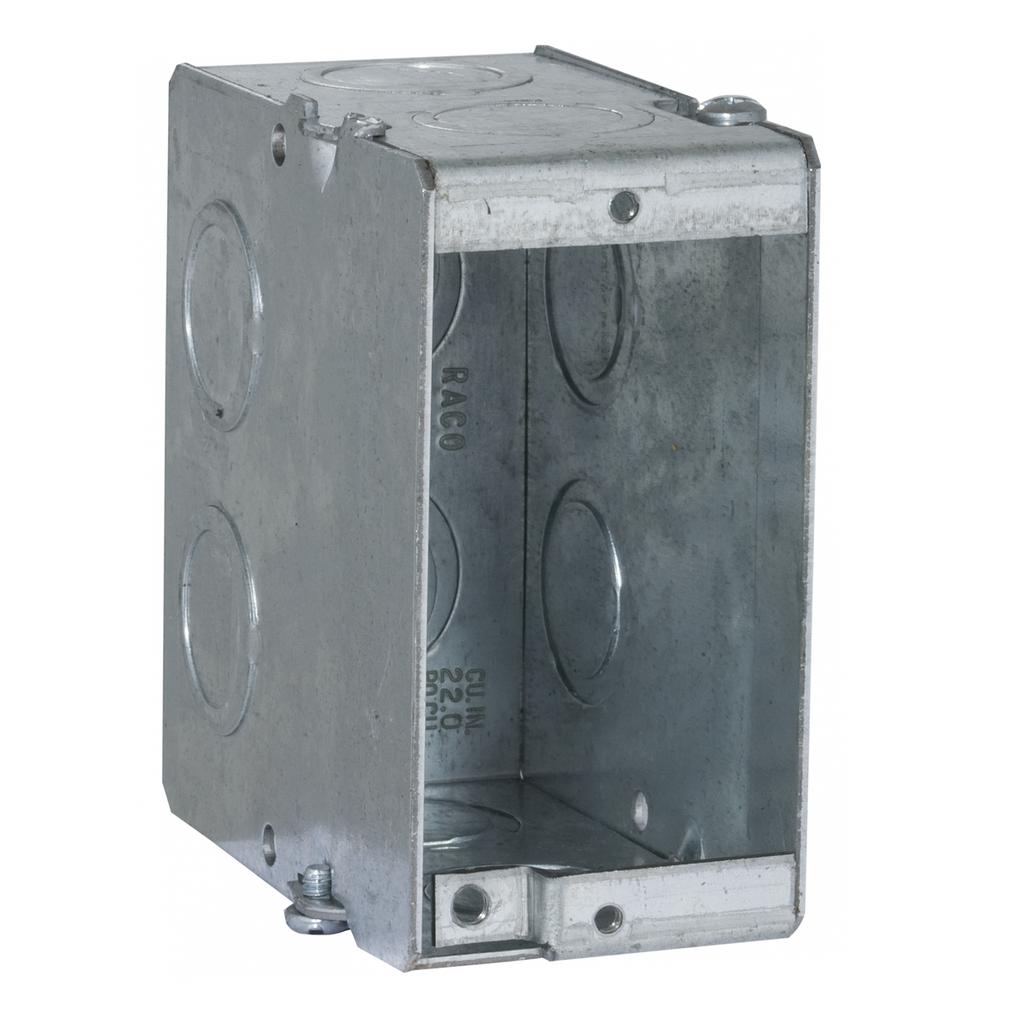 Raco 689 1-5/16 x 3-1/2 x 3-3/4 Inch 22 In Steel Gangable Masonry Box