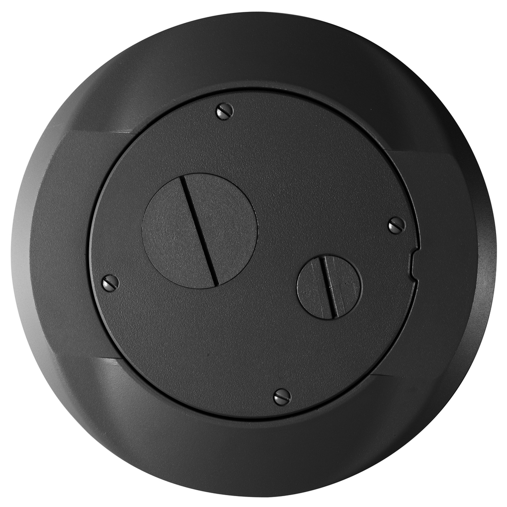 Hubbell Wiring Devices S1SPFFBL Black Concrete Floor Fire Rated Poke-Through Carpet Furniture Feed Cover and Flange Subplate