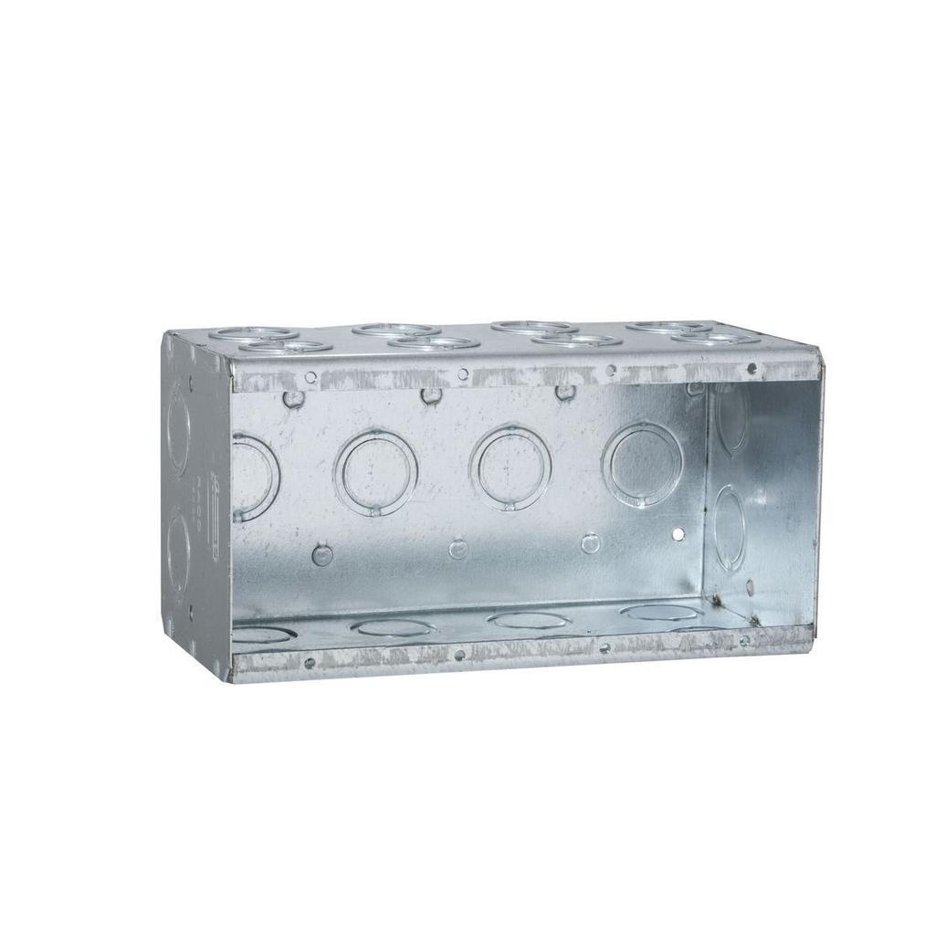 Raco 698 7-3/8 x 3-1/2 x 3-3/4 Inch 88 In Steel 4-Gang Masonry Box