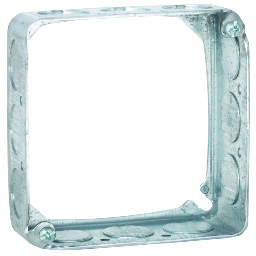 Raco 201 4 x 4 x 1-1/2 Inch Steel Square Cover Extension Ring