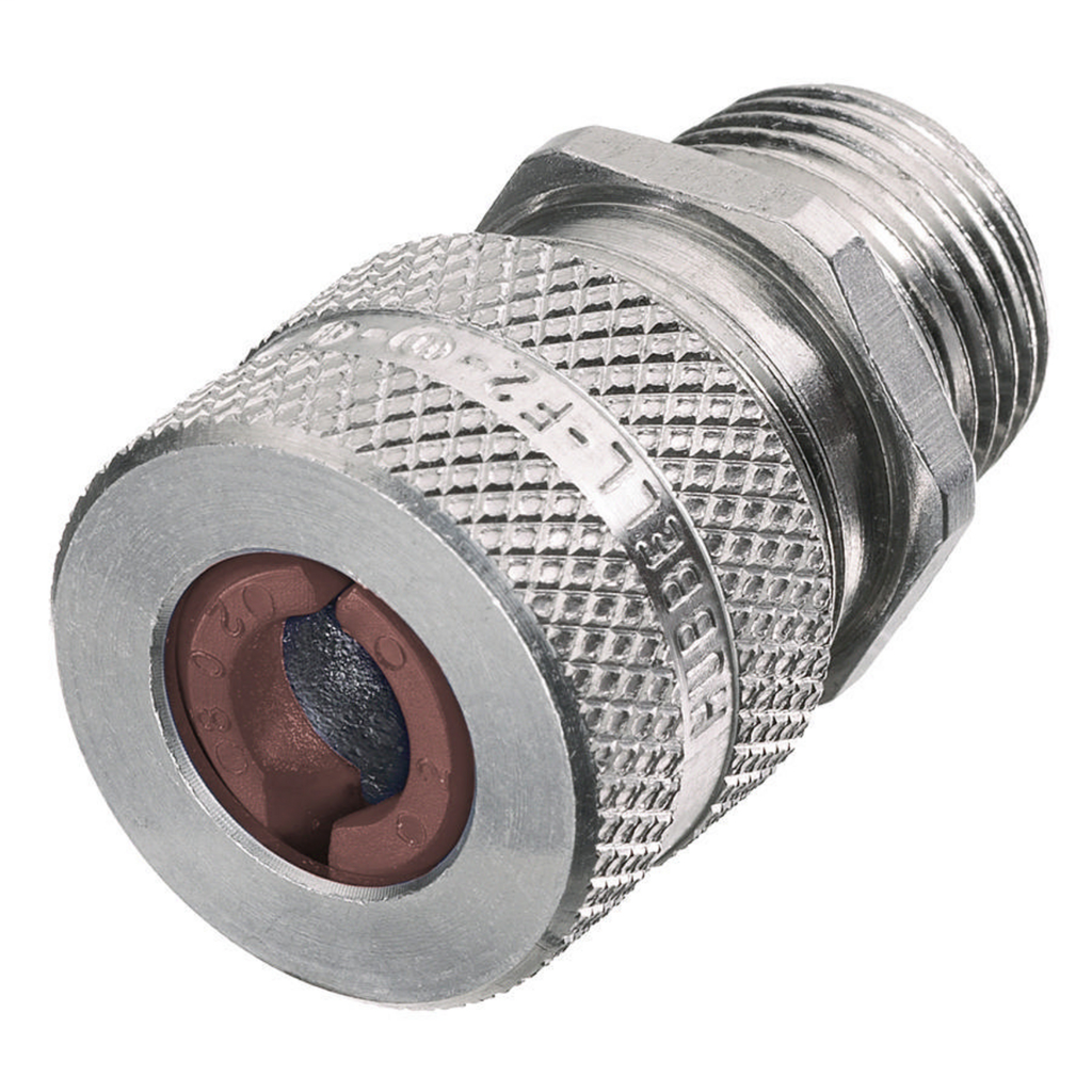 Hubbell Wiring Devices SHC1024 1/2 Inch Male Threaded 0.5 to 0.63 Inch Machined Aluminum Straight Cord Connector