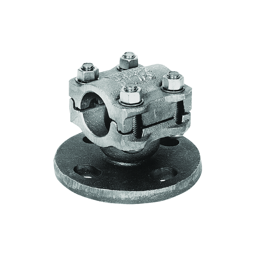 Burndy UH195 2-1/2 Inch 5-Bolt Circle Copper Bus Support