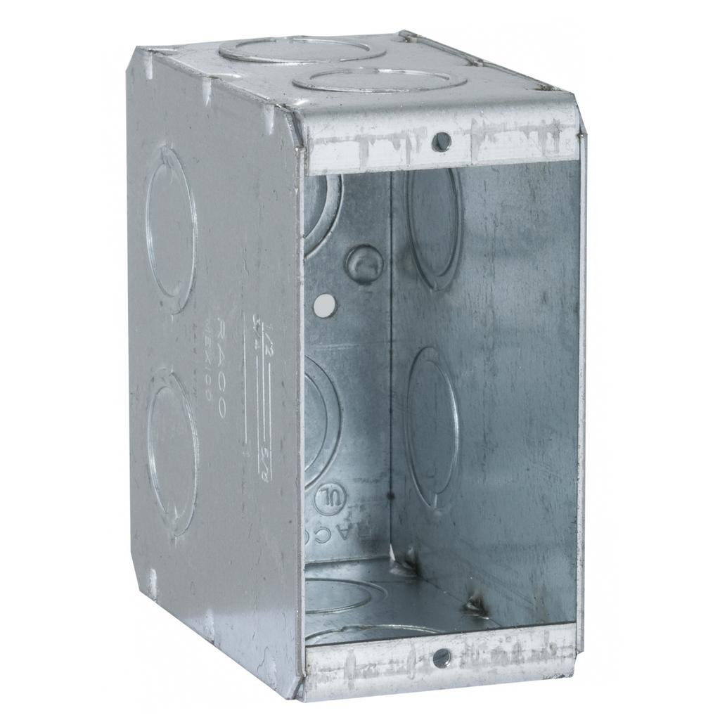 Raco 695 1-5/16 x 3-1/2 x 3-3/4 Inch 22 In Steel 1-Gang Masonry Box