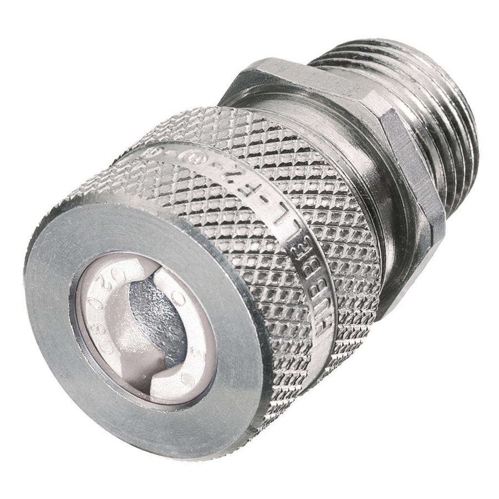 Hubbell Wiring Devices SHC1022 1/2 Inch Male Threaded 0.25 to 0.38 Inch Machined Aluminum Straight Cord Connector