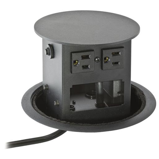 Furniture Connectivity Boxes, Work Surface, Elite Pop-Up Base, 4) Power, 2-Unit Data