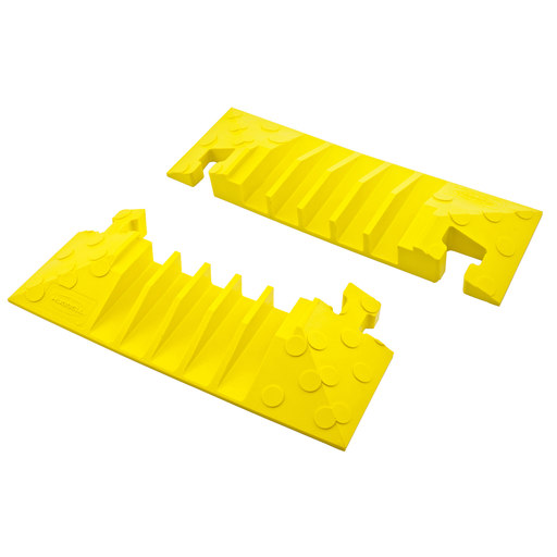 Kellems Wire Management, 5 Channel End Caps (pair only) TredTrak Yellow