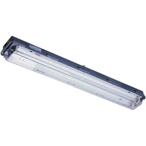 LZ2SE2 SERIES - STAINLESS STEEL 32 WATT FLUORESCENT EMERGENCY POWERLIGHT FIXTURE (TWO 4-FOOT LAMPS NOT INCLUDED) - DOUBLE-ENDED LAMP TYPE -120-277V AT 60HZ - HUB SIZE 3/4 INCH NPT