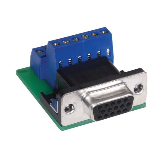 Audio/Video Connector, D-Sub, 15-Pin VGA, ScrewTerminal, 10 Pack