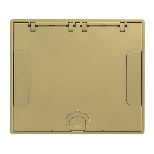 Concrete Floors, Recessed, CFB6G & CFB10G Rectangular Series, Flush Cover Assembly, Brass Powder Paint Finish