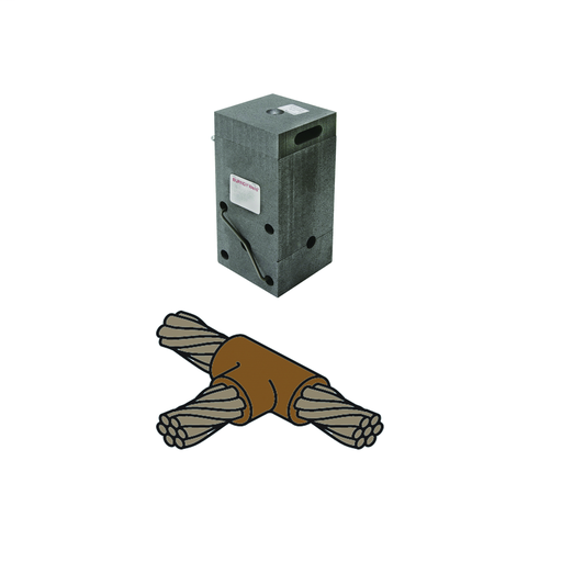 Mold, Horizontal Cable Tap to Horizontal Cable Run, 4/0 AWG (Run & Tap), 150 Weld Metal.