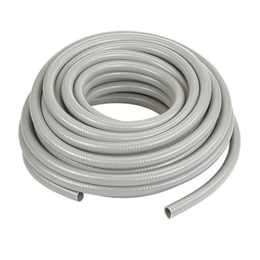 "Kellems Wire Management, Liquidtight System, Non-Metallic PolyTuff® I Conduit, Gray, 1/2"", 100 feet"