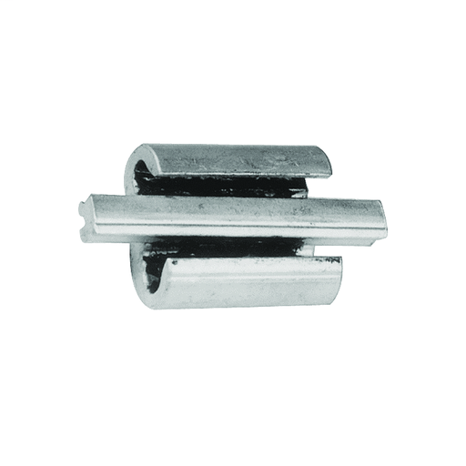 Wide range, universal and reversible, Figure 3 shaped aluminum connector with adjustable overhanging spacer that separates conductors,Conductor Groove A Solid:1, 1/0, 2/0, 3/0.