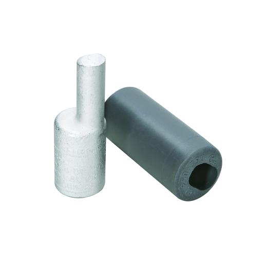 "Aluminum Compression Pin Adapter, 250 kcmil, 0.47"" Plug Dia, 1.22"" Plug Length, Al/Cu Rated."