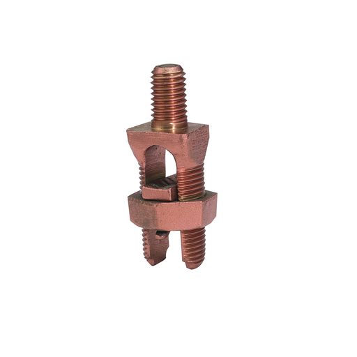 """Mechanical Grounding Connector, Cable to Flat, 10-5 AWG (Str) / 10-4 AWG (Sol), 5/16"""" Stud."""