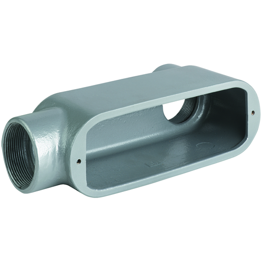 O SERIES/DURALOY 5 SERIES - ALUMINUM CONDUIT BODY - LB TYPE - HUB SIZE3-1/2 INCH - VOLUME 292.0 CUBIC INCHES