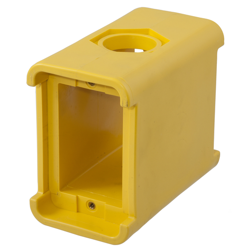 PORTABLE OUTLET BOX, BLANK, YELLOW