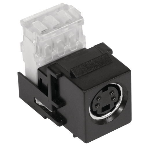 Hubbell Premise Wiring Products, Snap-Fit, S-Video Connector, 110 Block,Black