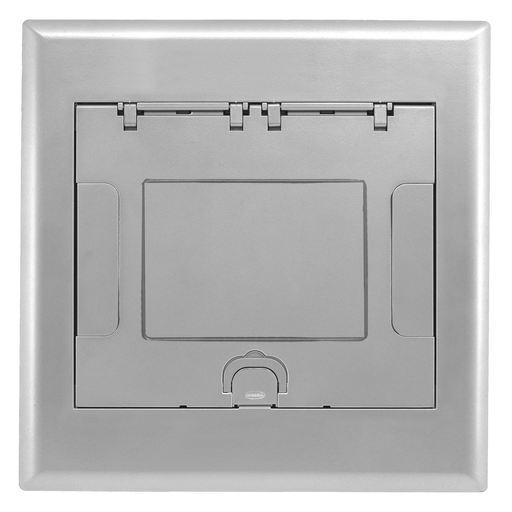Raised Access or Wooden Floors, Recessed, 4-Gang AFB Series, Cover Assembly, Aluminum Powder Paint Finish with Floor Insert
