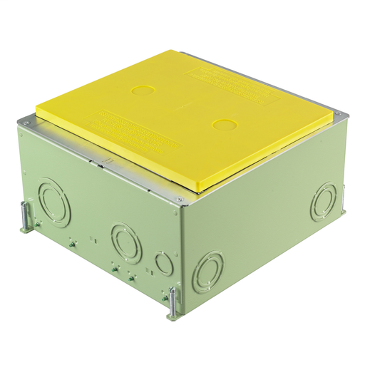 """Concrete Floorboxes, Galvanized Stamped Steel Box, Recessed, 8/10-Gang CFB Series Box for Rectangular Covers, 5.50"""" Minimum Depth of Pour, Corrosion Resistant Paint"""