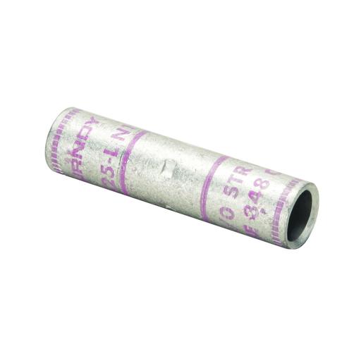 "Copper Compression Splice, 3 AWG, 2.05"" Splice Length, Short Barrel, Tin Plated."