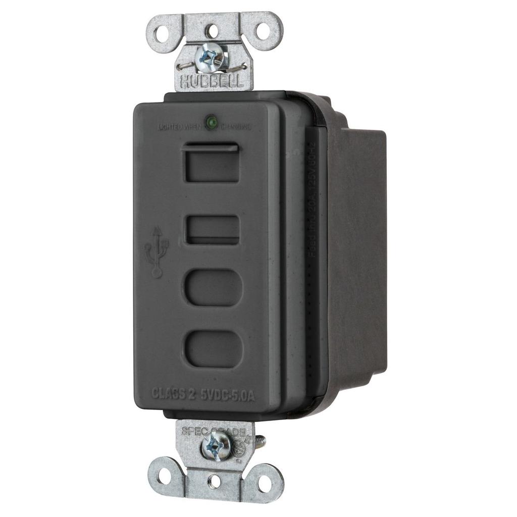 HWDK USB4ACBK USB CHRGR 4 PORT 5AMP