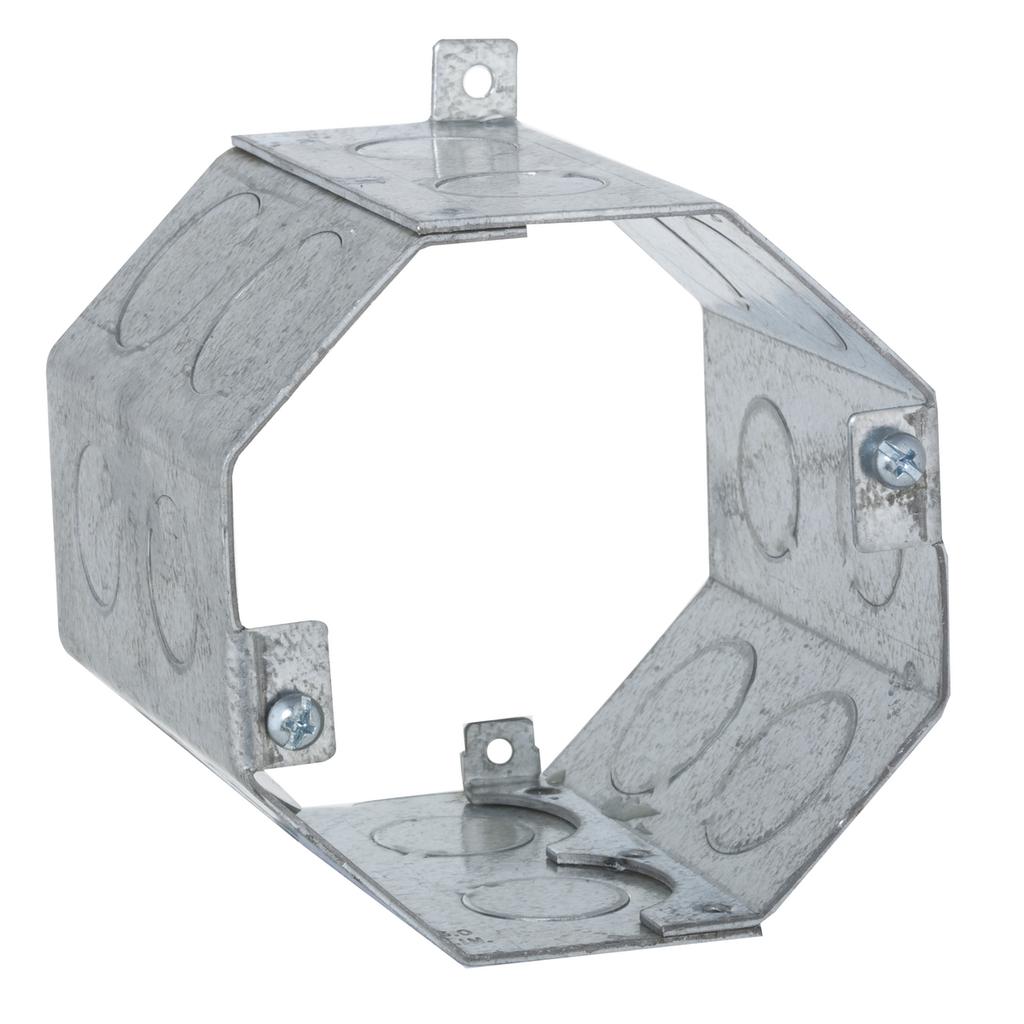 "Raco 273 4 x 3-1/2"" 43"" cu.in. Steel Octagon Concrete Box"